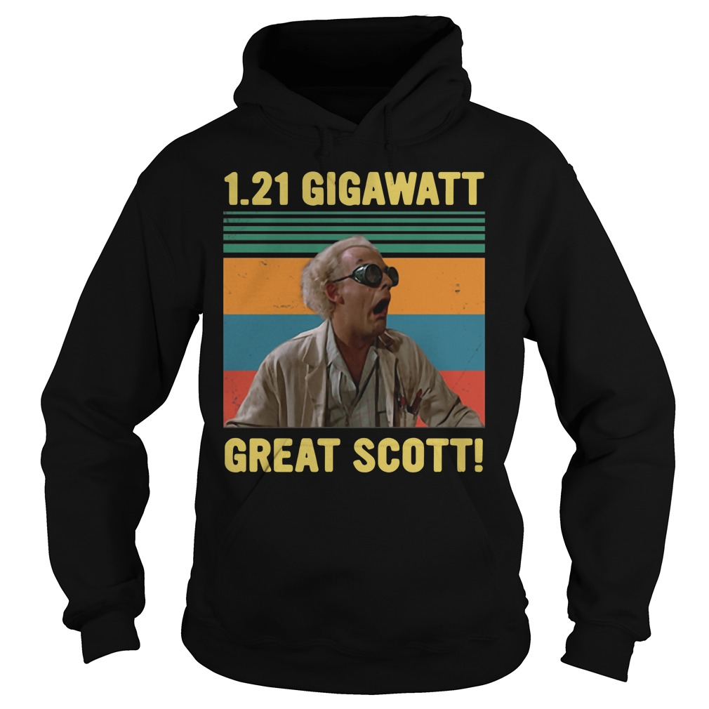 1.21 Gigawatt great scott vintage hoodie