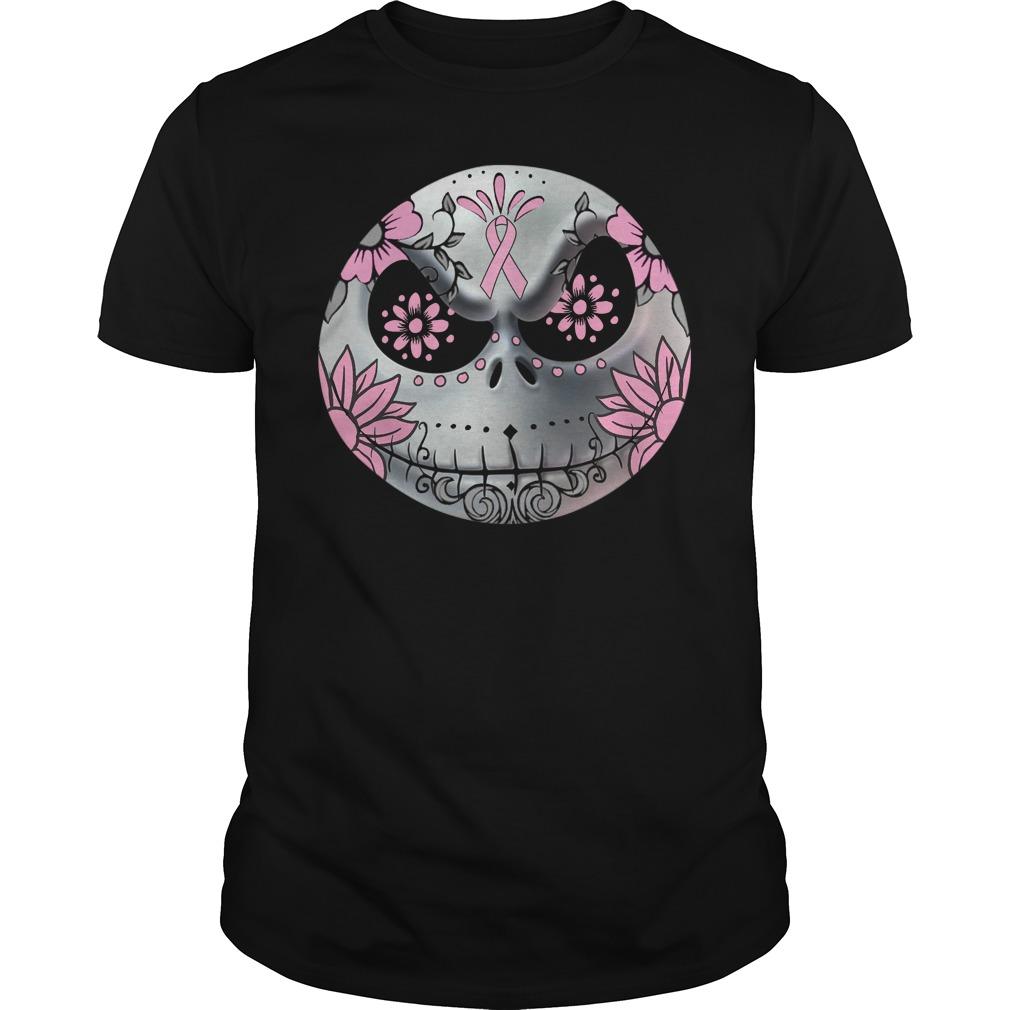 Breast Cancer Jack Skellington face shirt