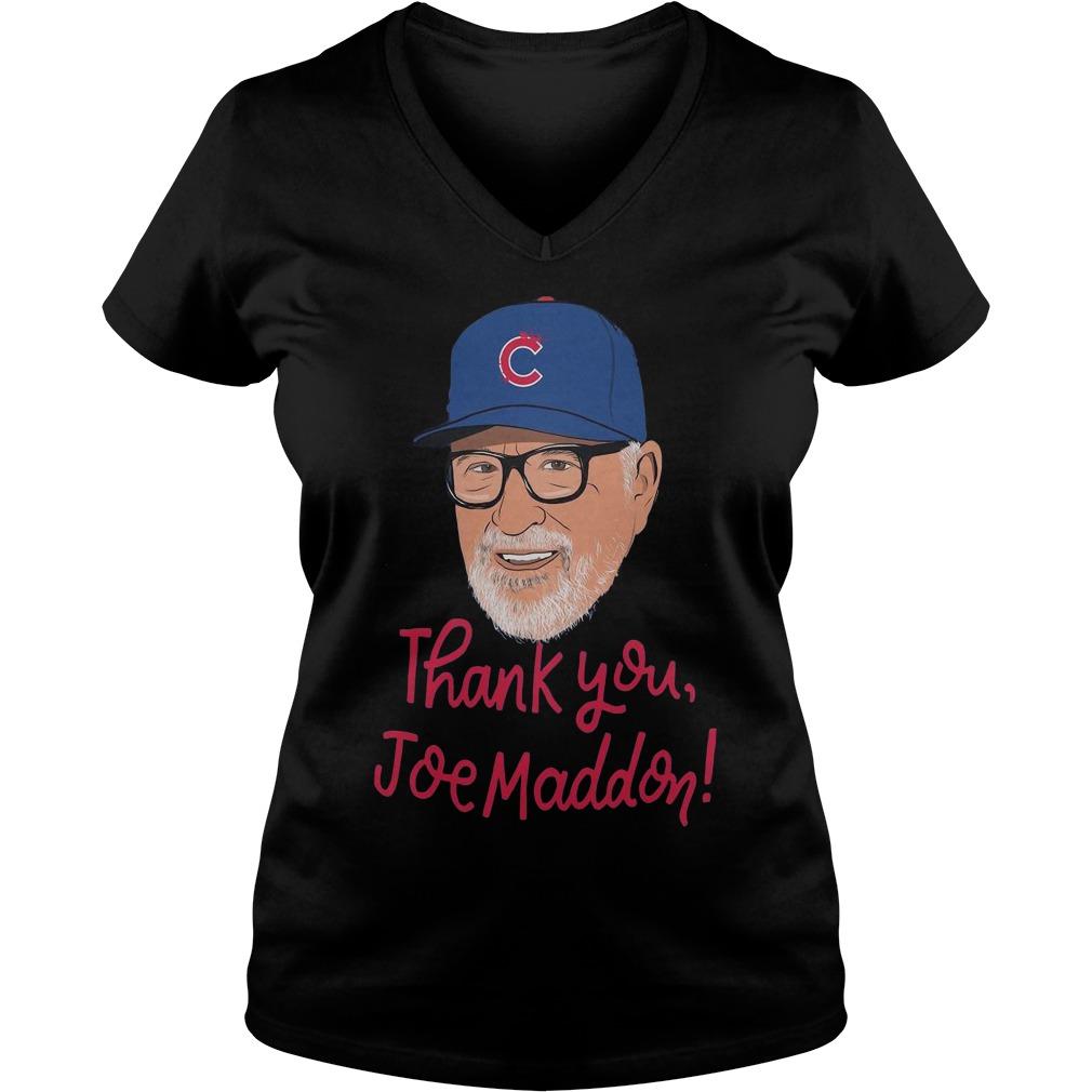 Chicago Cubs Thank you Joe Maddon ladies tee