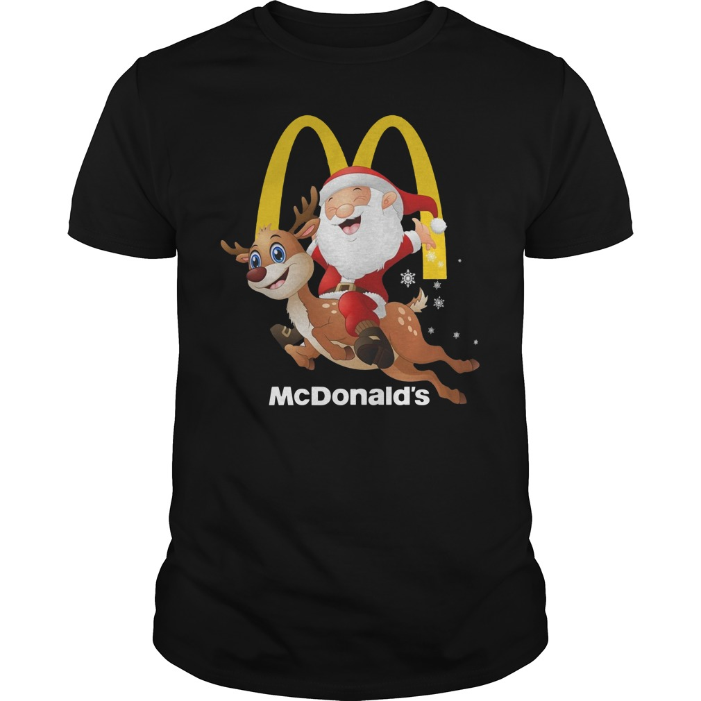 McDonald's Santa Claus riding Reindeer shirt
