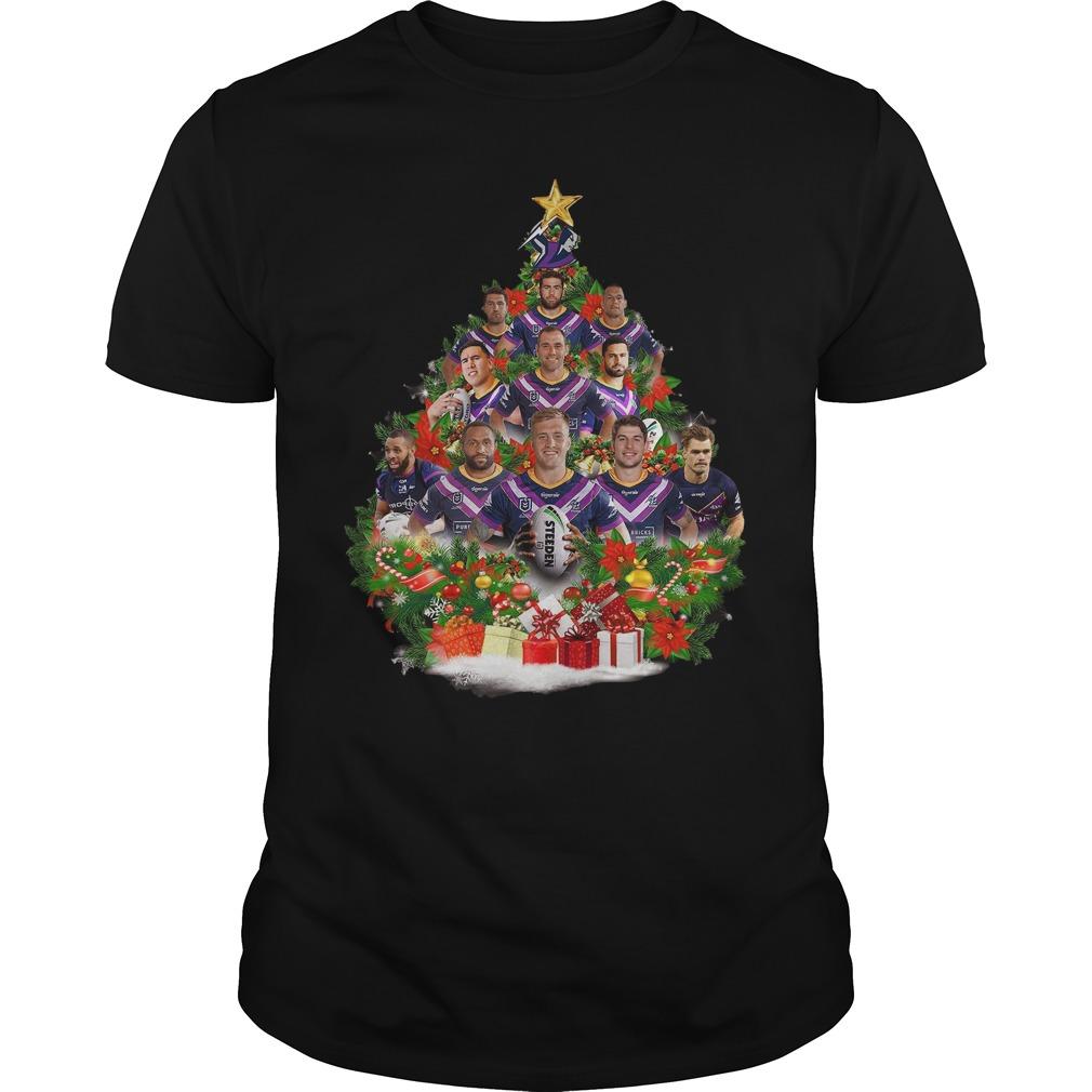 Christmas Trees Melbourne: Melbourne Storm Team Players Christmas Tree Shirt, Hoodie