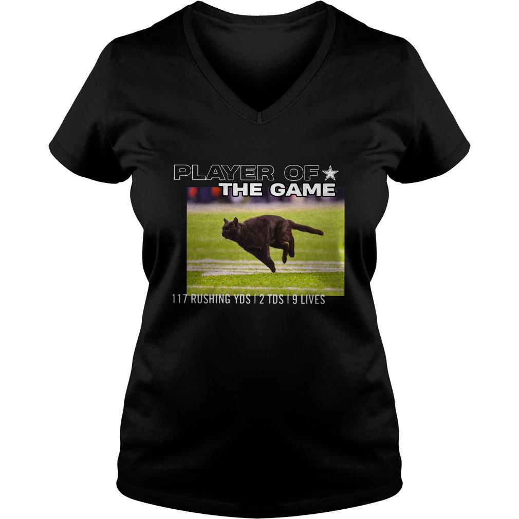 Player Of The Game 117 Rushing YDS 2 TDS 9 lives ladies tee