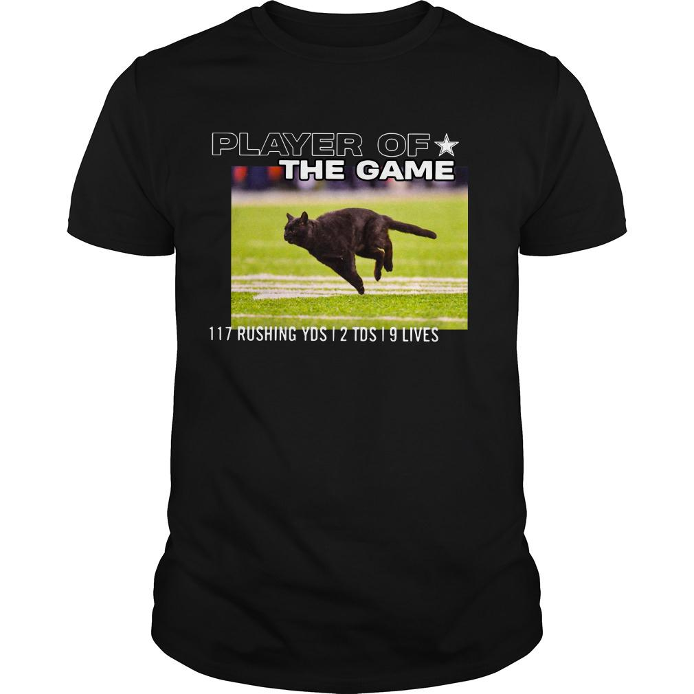 Player Of The Game 117 Rushing YDS 2 TDS 9 lives shirt