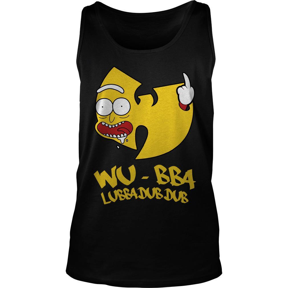 Rick Sanchez Wu Tang Wubba Lubba Dub Dub tank top
