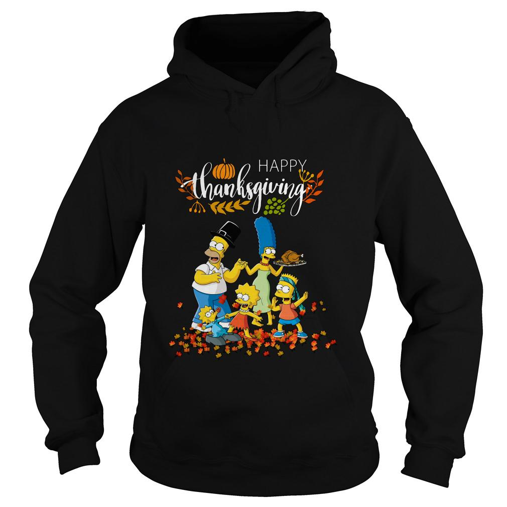 The Simpsons characters happy thanksgiving hoodie