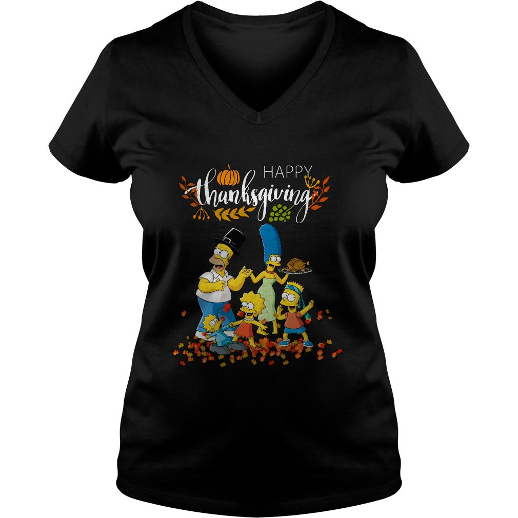 The Simpsons characters happy thanksgiving ladies tee