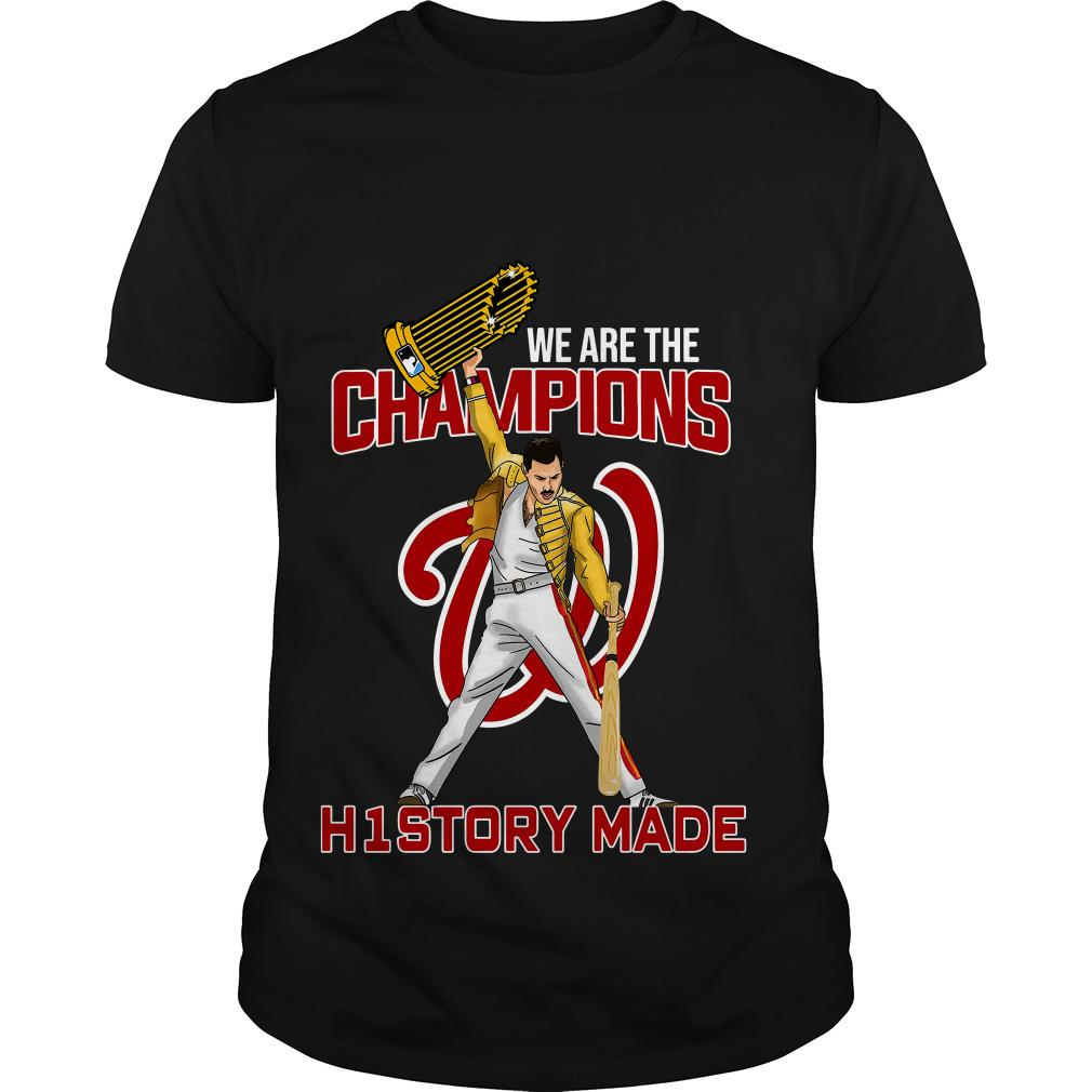 Washington Nationals We are the champions history made shirt