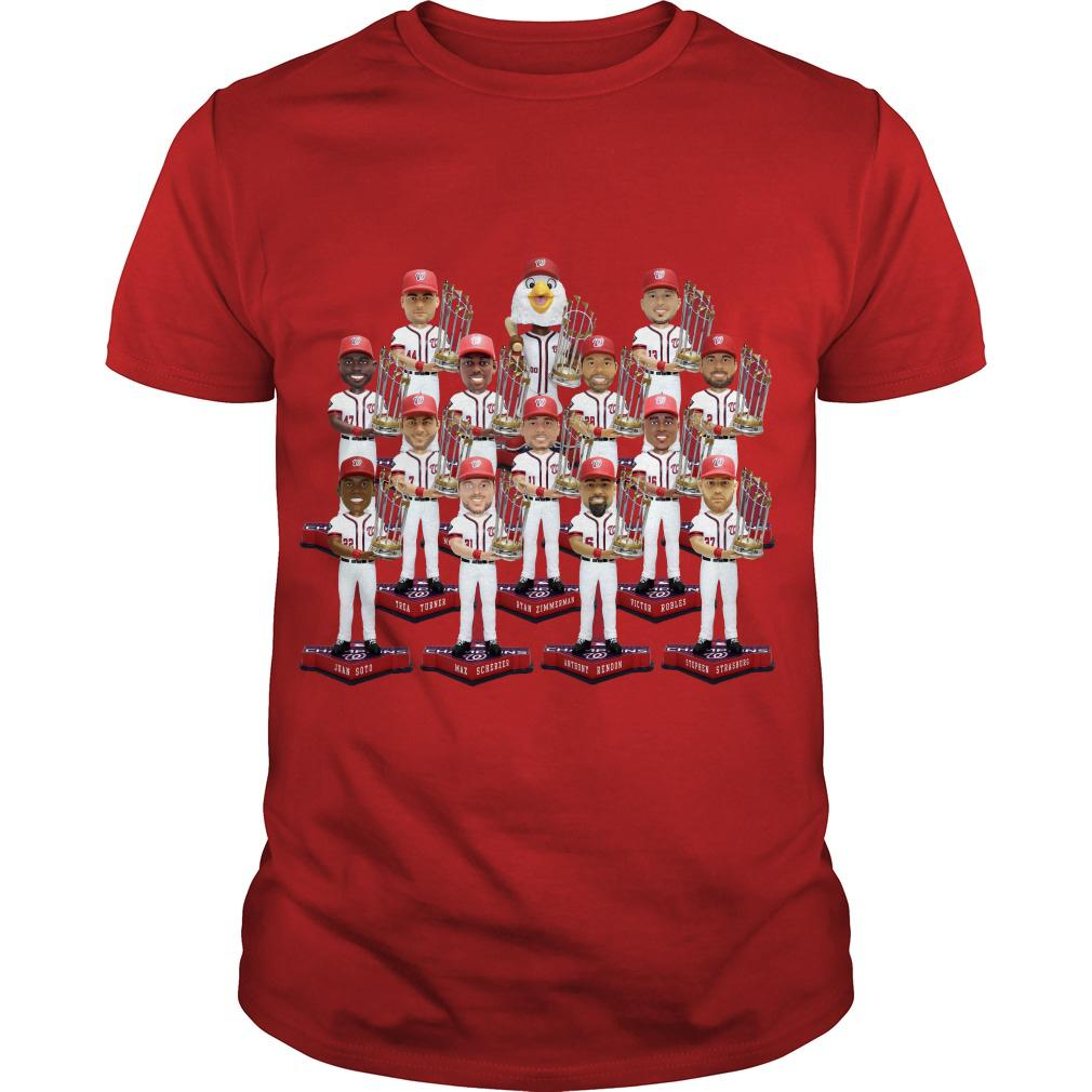 Washington Nationals World Series Champs Bobbleheads Shirt