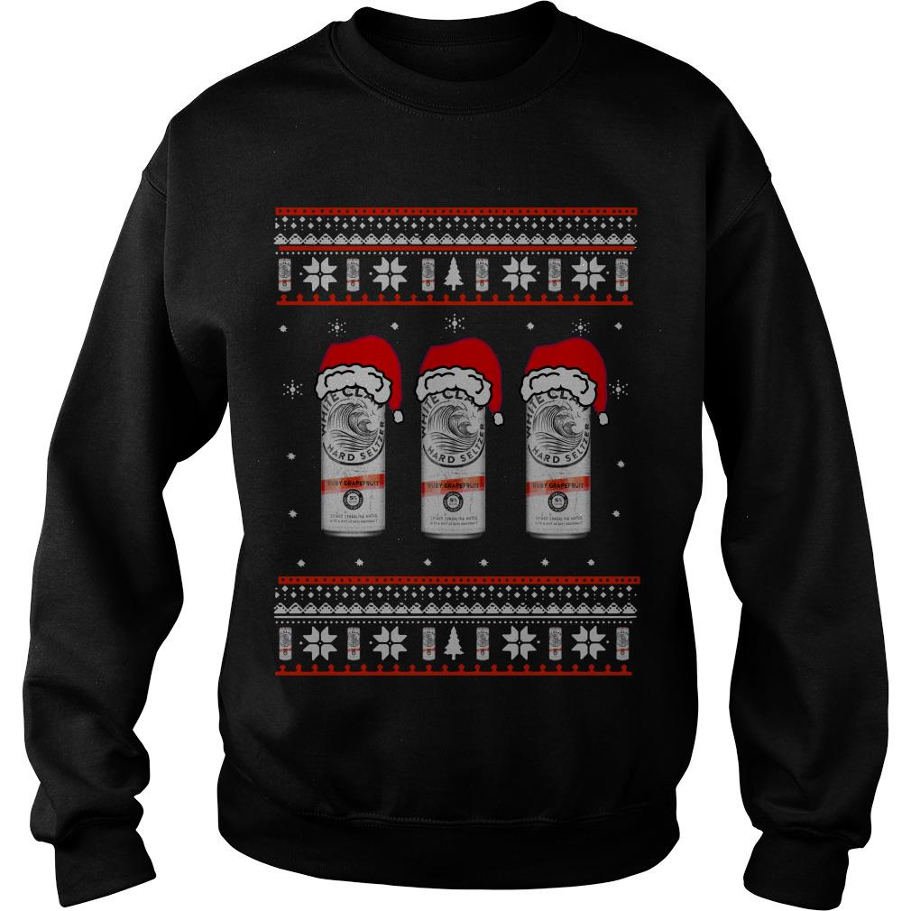 White Claw Ruby Raspberry Ugly Christmas sweater