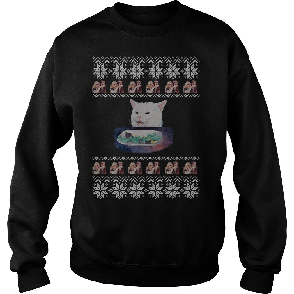 Woman Yelling Cat Meme Ugly Christmas Sweater
