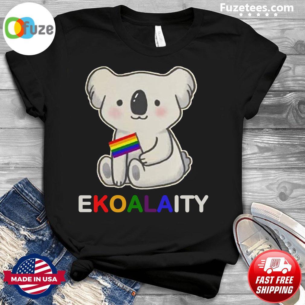 Koala LGBT pride flag Ekoalaity shirt