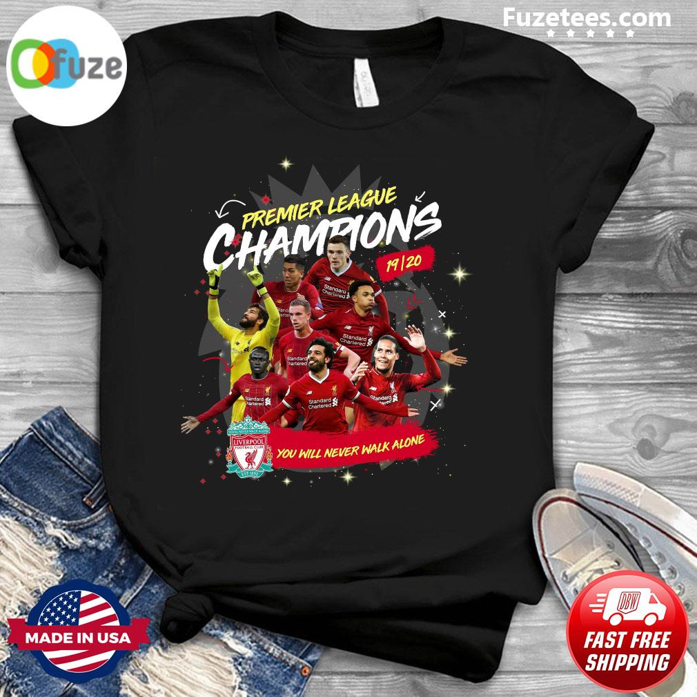 Premier League Champions 19-20 Liverpool You Will Never Walk Alone Shirt