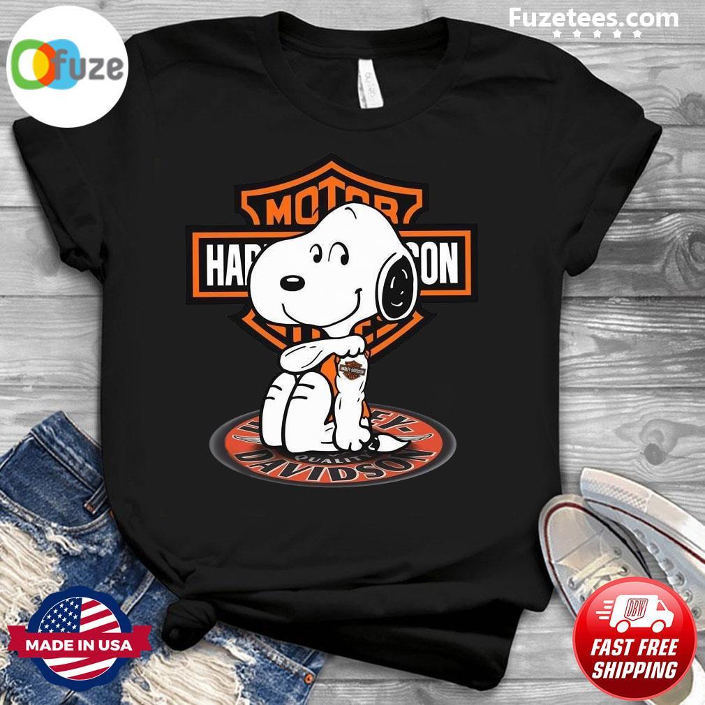 Snoopy Tattoo Motor Harley Davidson Cycles Shirt