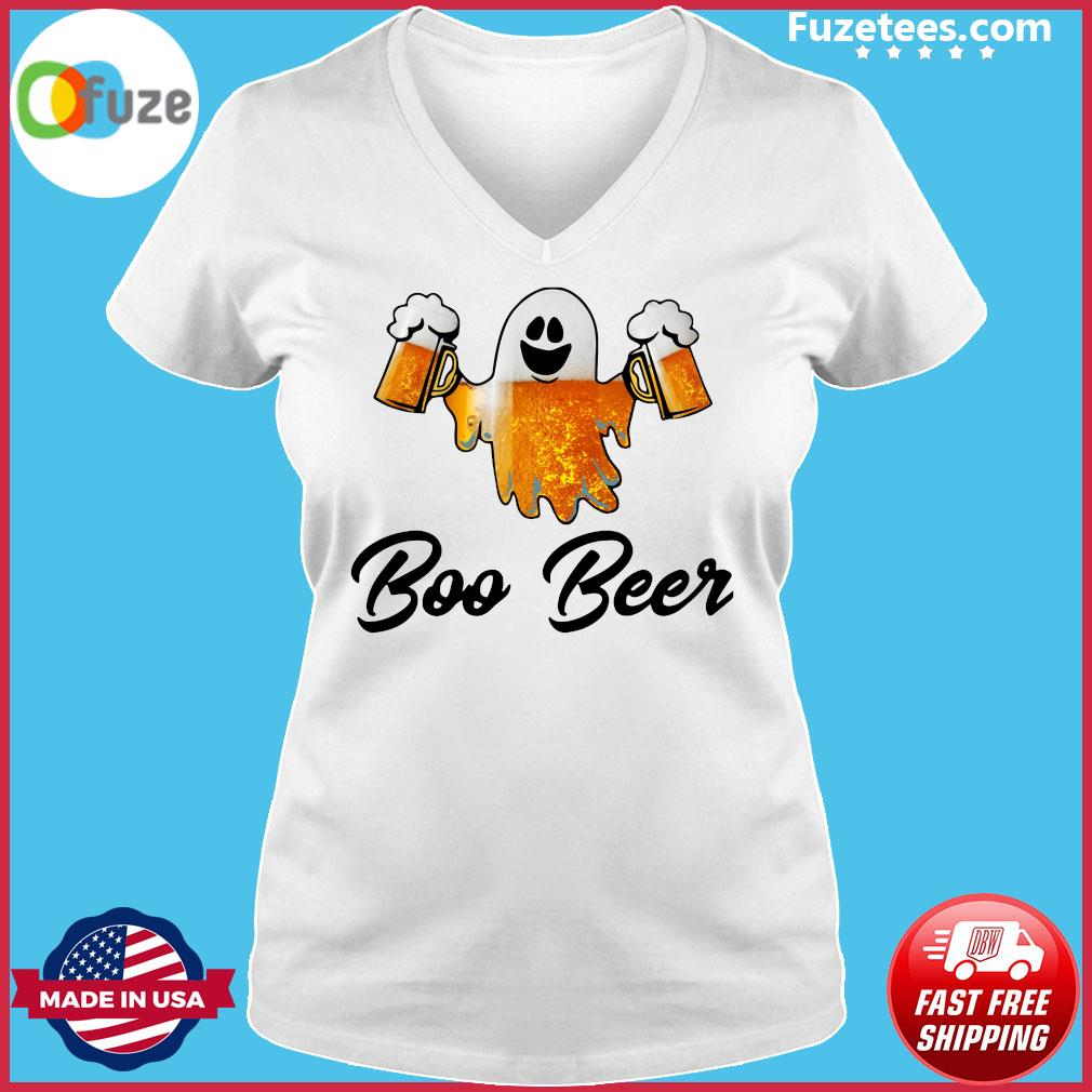 Ghost Boo Bees Halloween T-Shirt Ladies V-neck