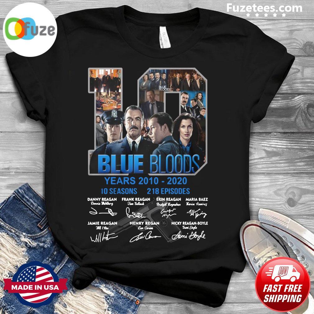 10 Years Blue Bloods 2012 2020 10 Seasons 218 Episodes Signatures Shirt