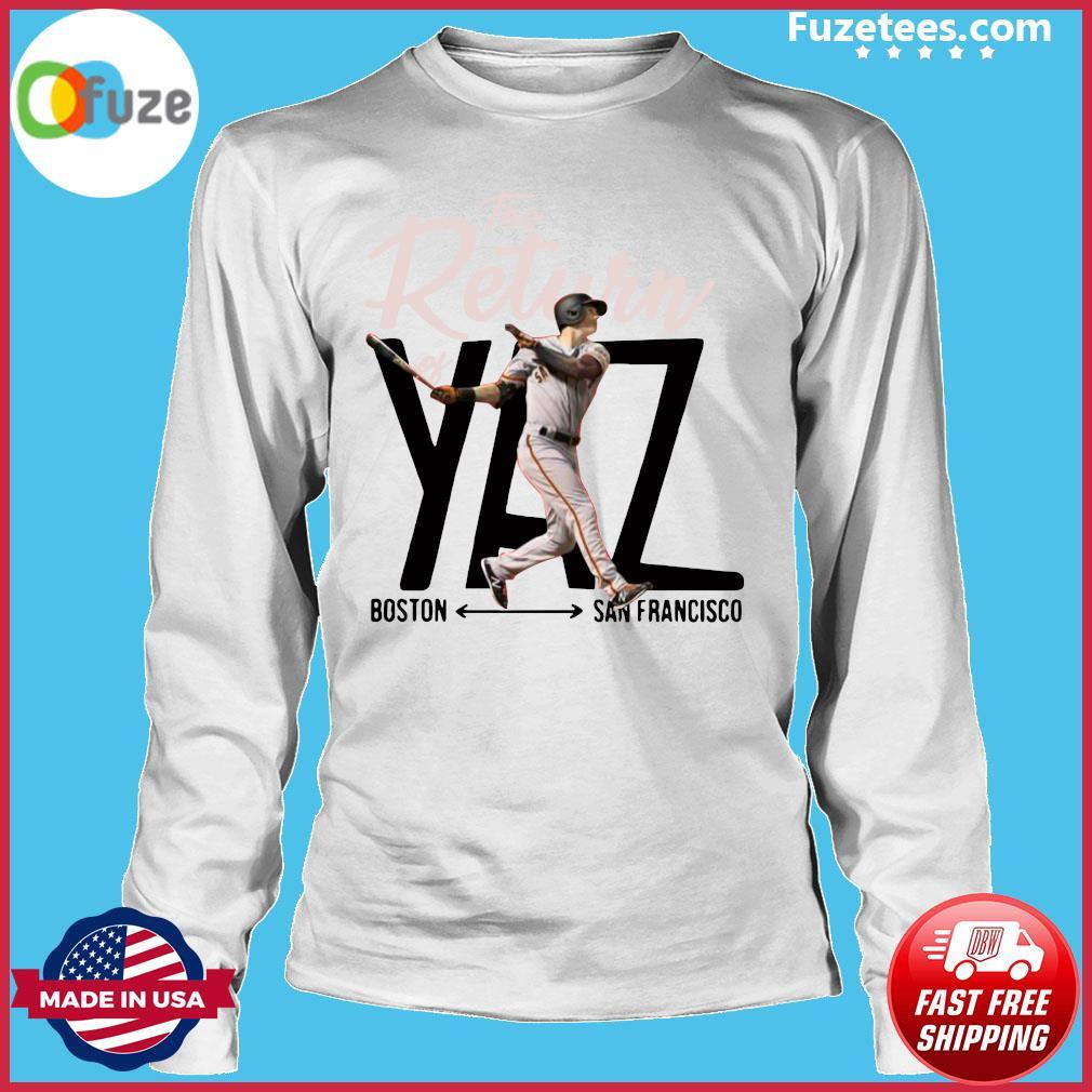 Mike Yastrzemski Yaz Boston San Francisco Shirt Long Sleeve