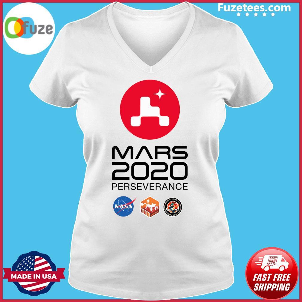 NASA Mars Rover Perseverance T-Shirt Ladies V-neck