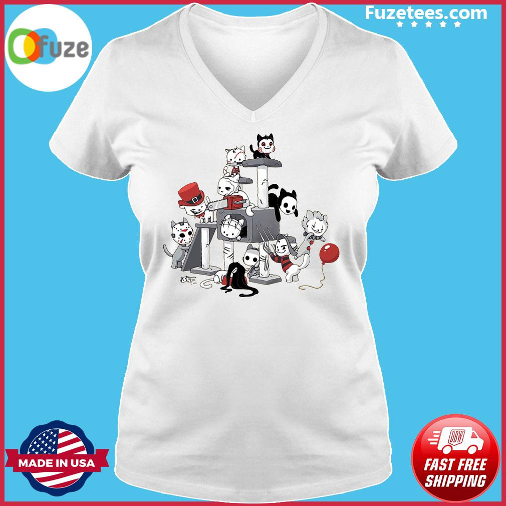 Park Cats Scariest Horror Movie Characters Halloween s Ladies V-neck