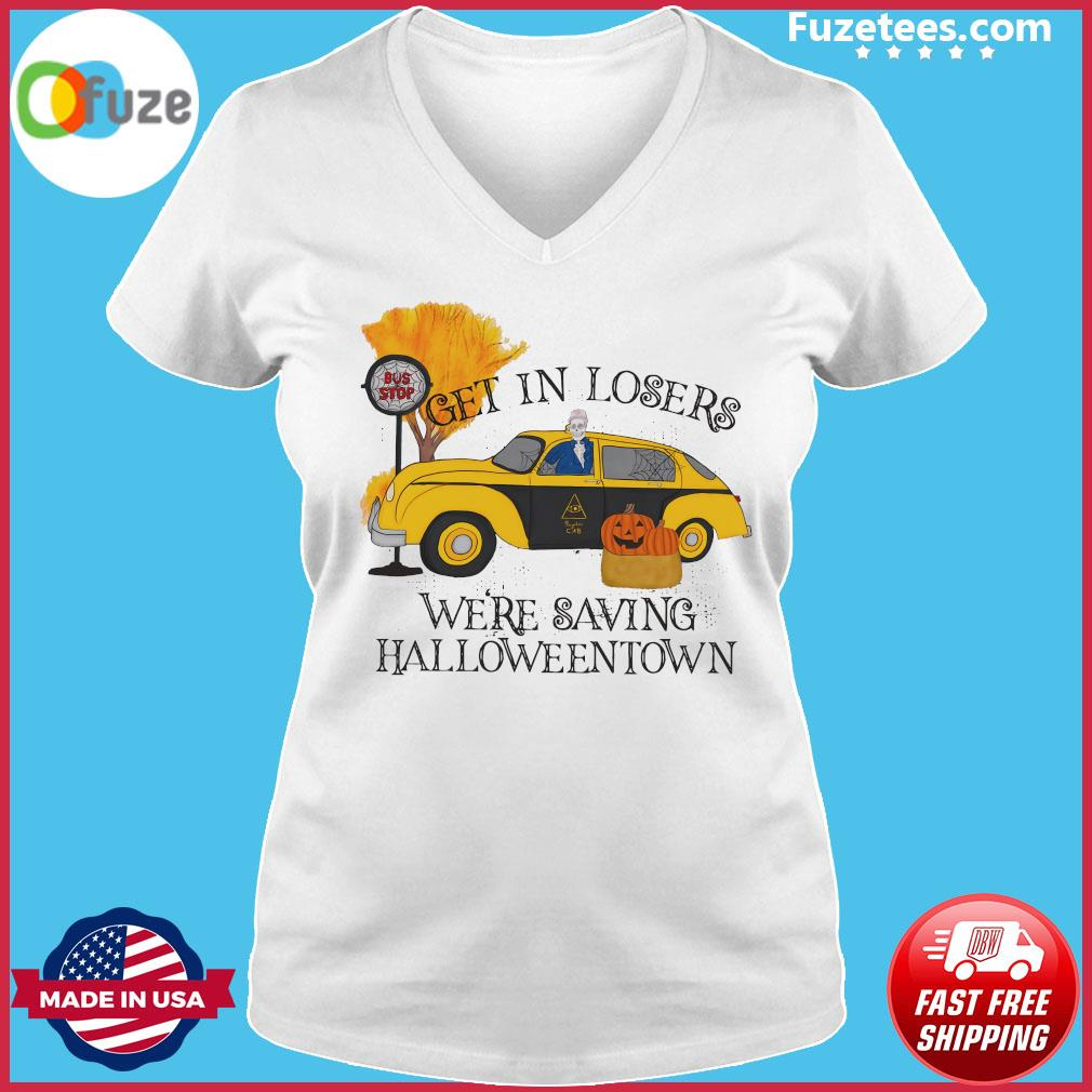Benny Taxi Driver Get In Losers We're Saving Halloweentown Shirt Ladies V-neck