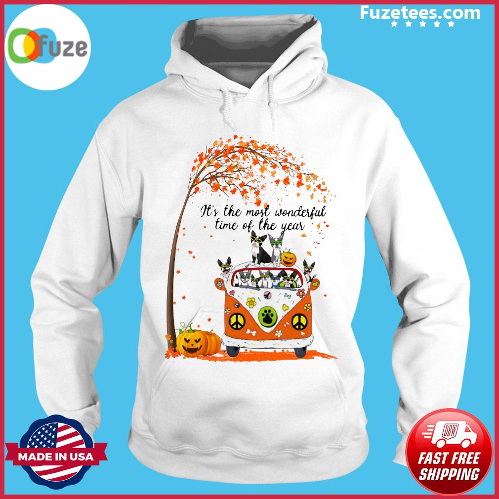 Halloween Cat Pumpkin It's The Most Wonderful Time Of The Year Shirt Hoodie