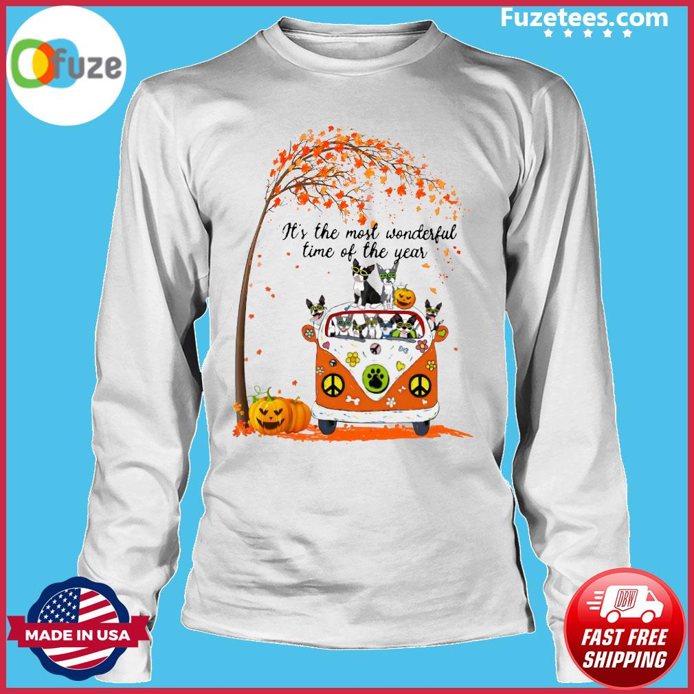 Halloween Cat Pumpkin It's The Most Wonderful Time Of The Year Shirt Long Sleeve
