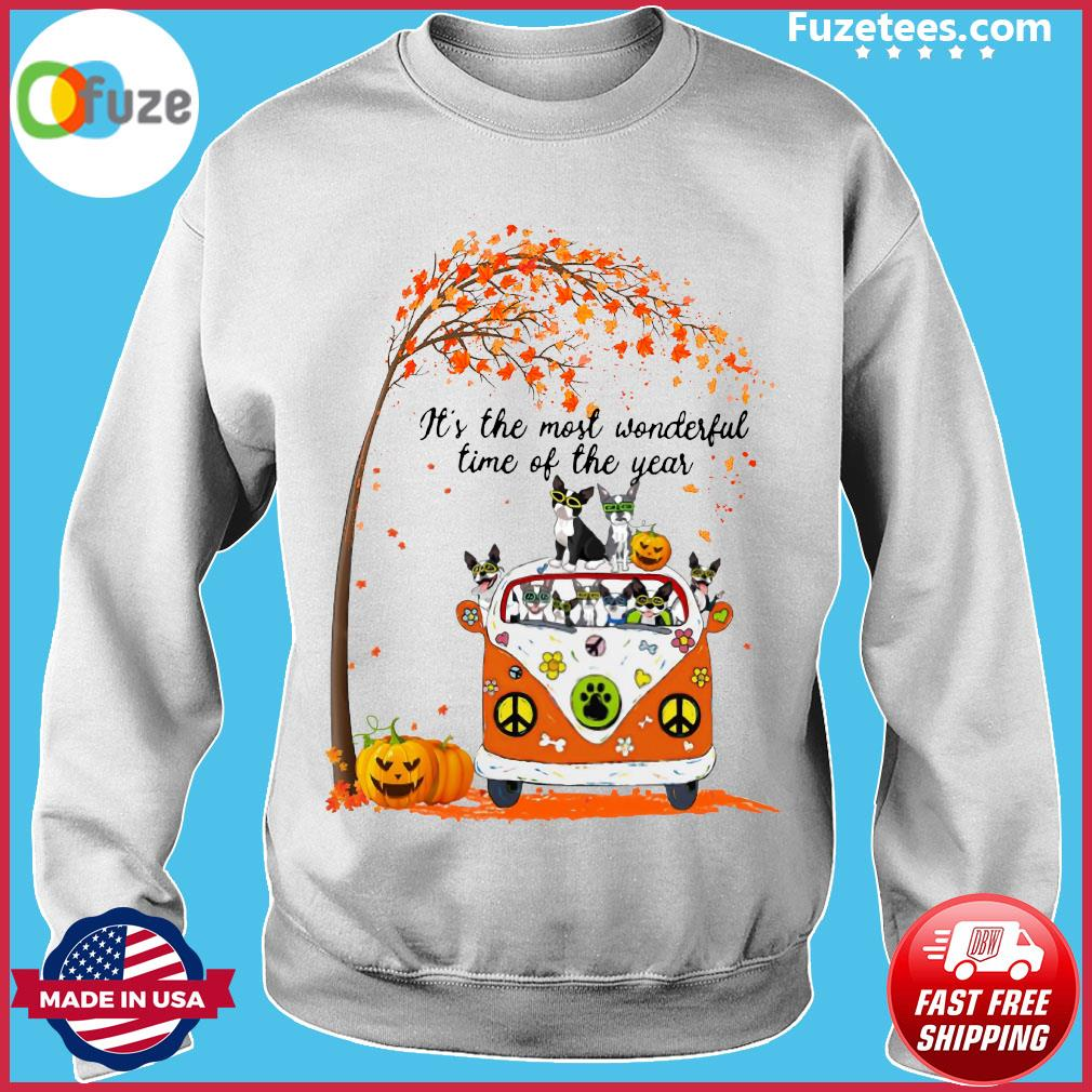 Halloween Cat Pumpkin It's The Most Wonderful Time Of The Year Shirt Sweater