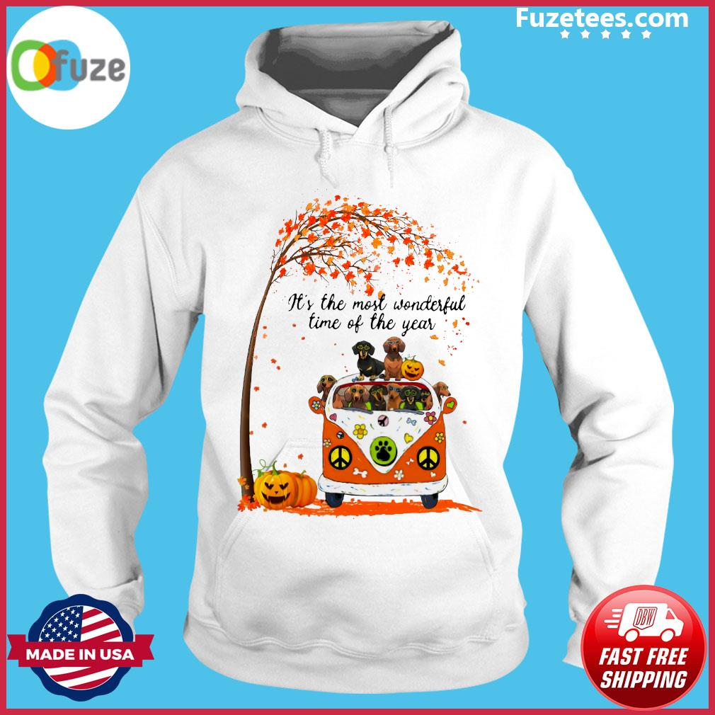 Halloween Dachshund Pumpkin It's The Most Wonderful Time Of The Year Shirt Hoodie