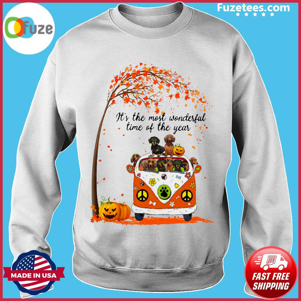 Halloween Dachshund Pumpkin It's The Most Wonderful Time Of The Year Shirt Sweater