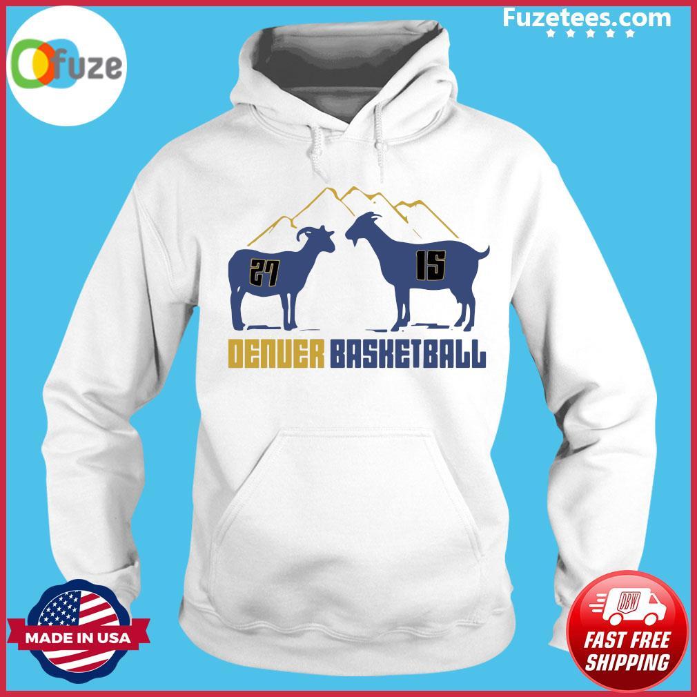 Jamal Murray and Nikola Jokic Goat Denver Basketball s Hoodie
