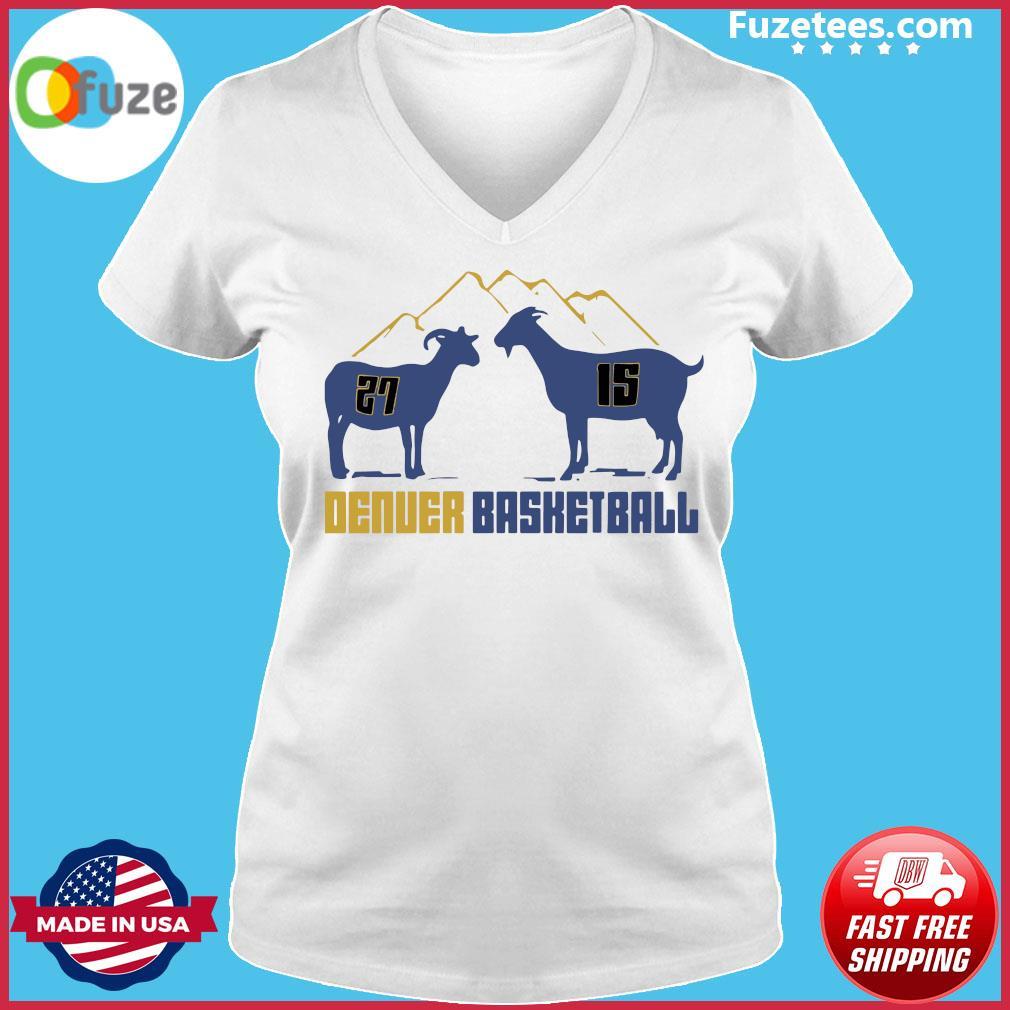 Jamal Murray and Nikola Jokic Goat Denver Basketball s Ladies V-neck