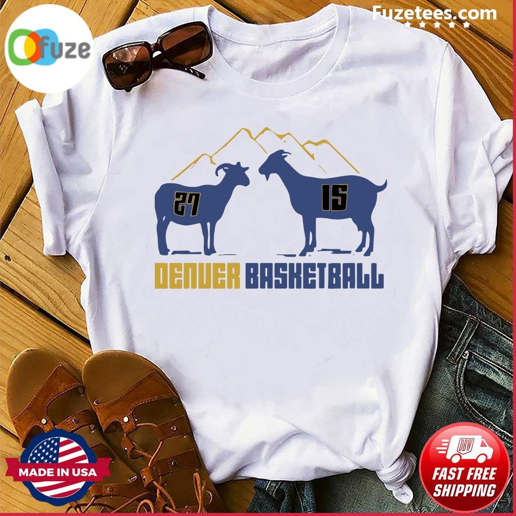 Jamal Murray and Nikola Jokic Goat Denver Basketball shirt