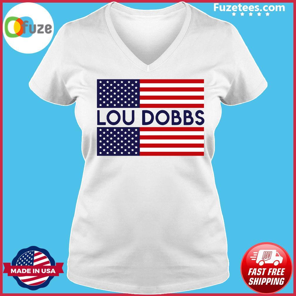 Lou Dobbs flag s Ladies V-neck