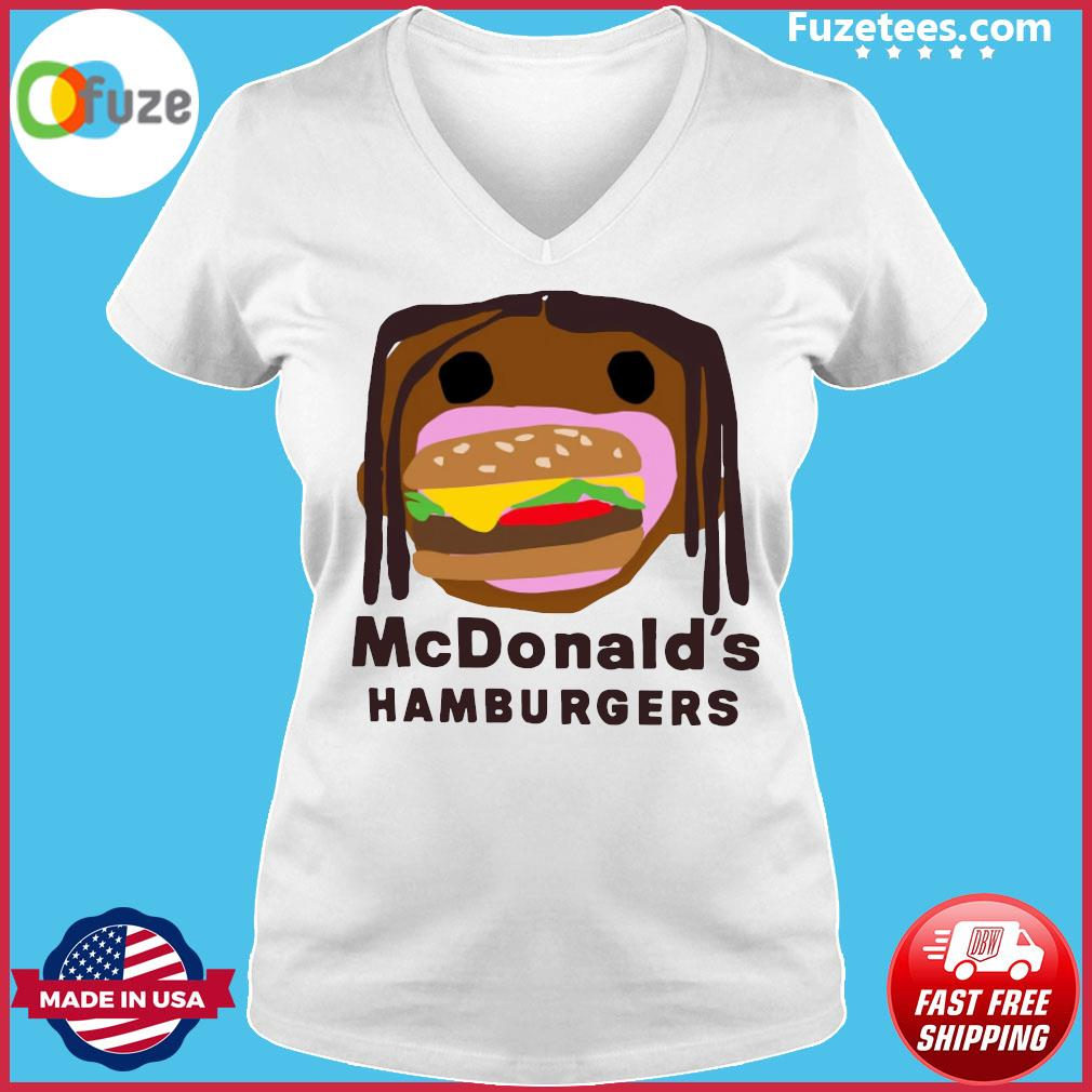McDonald's Hamburgers s Ladies V-neck