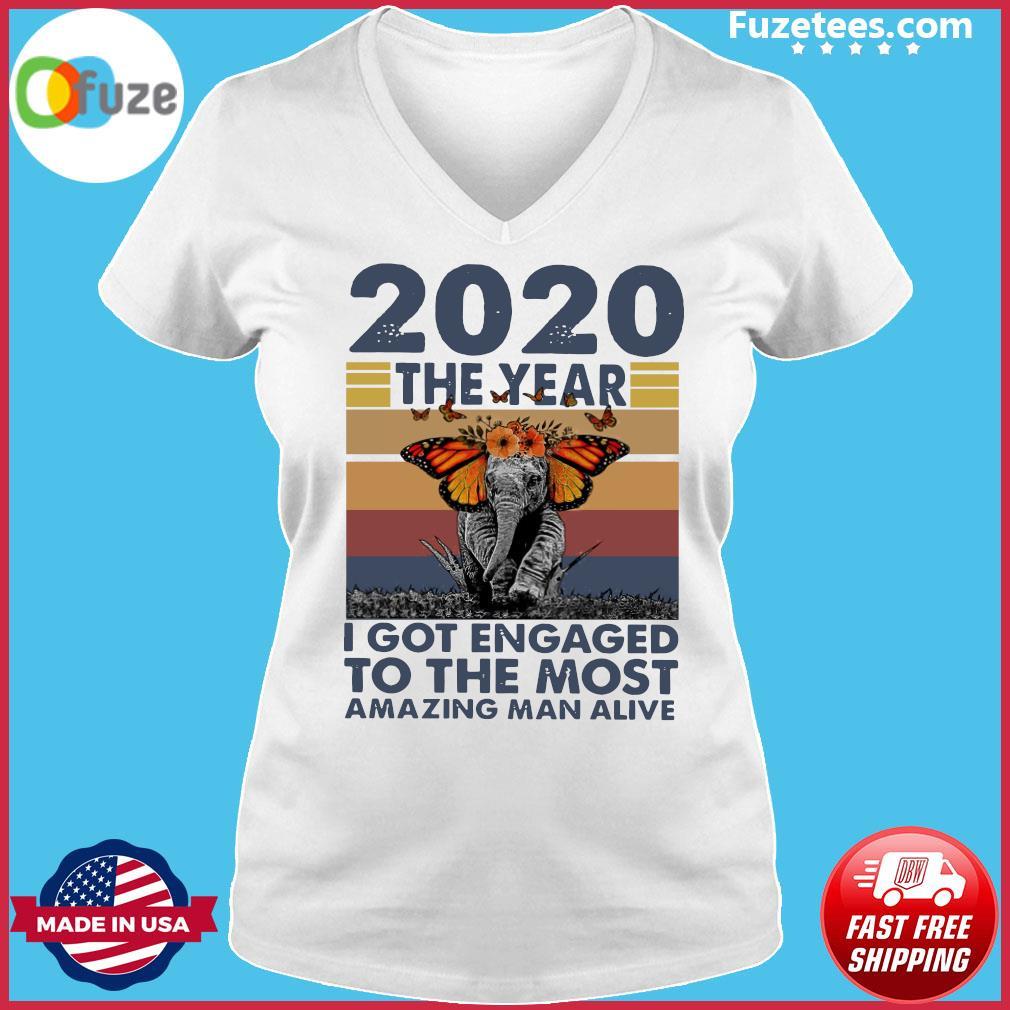 Elephant 2020 The year I Got Engaged To The Most Amazing Classic T-Shirt Ladies V-neck