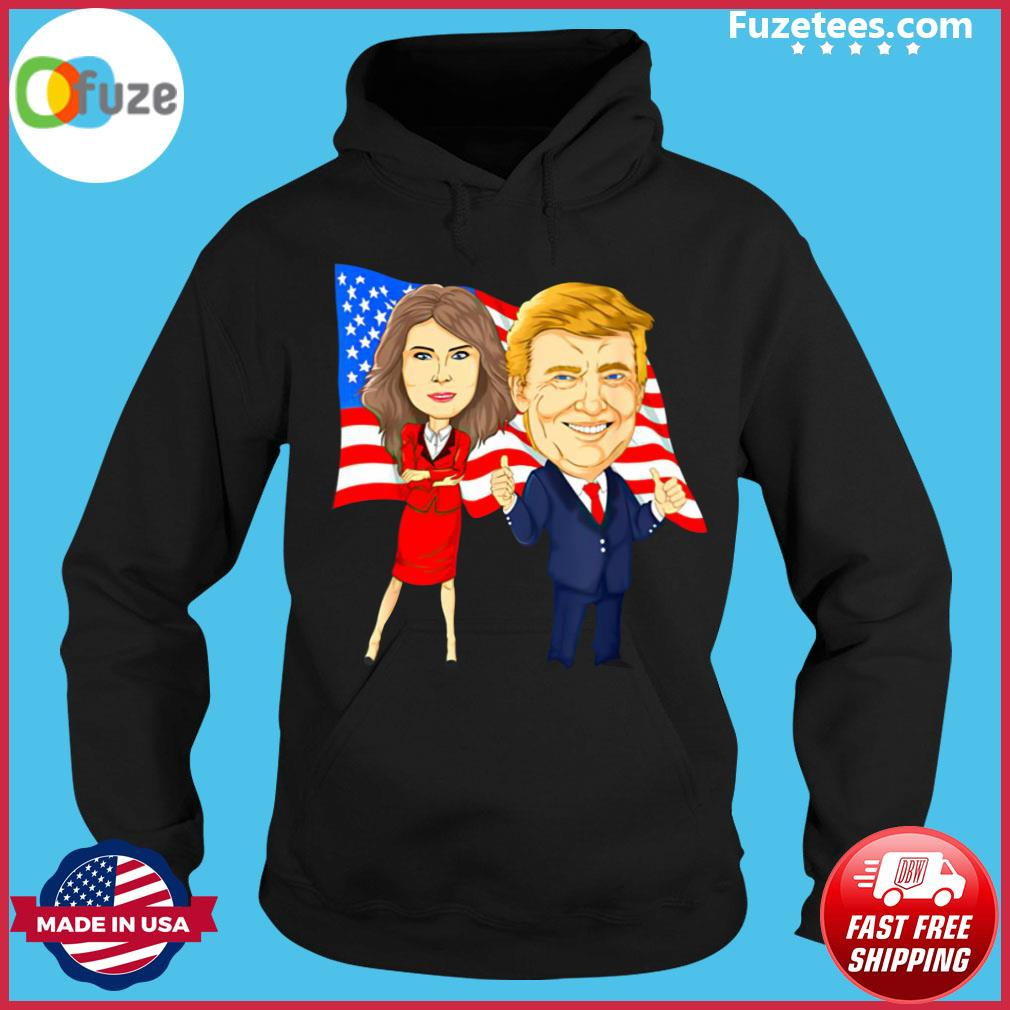 Official Donald Trump And Melania Trump Potus Flotus USA Flag Shirt Hoodie