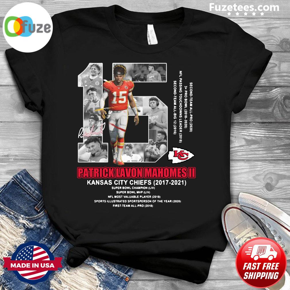 15 Patrick Lavon Mahomes Ii Of Kansas City Chiefs Signature Shirt