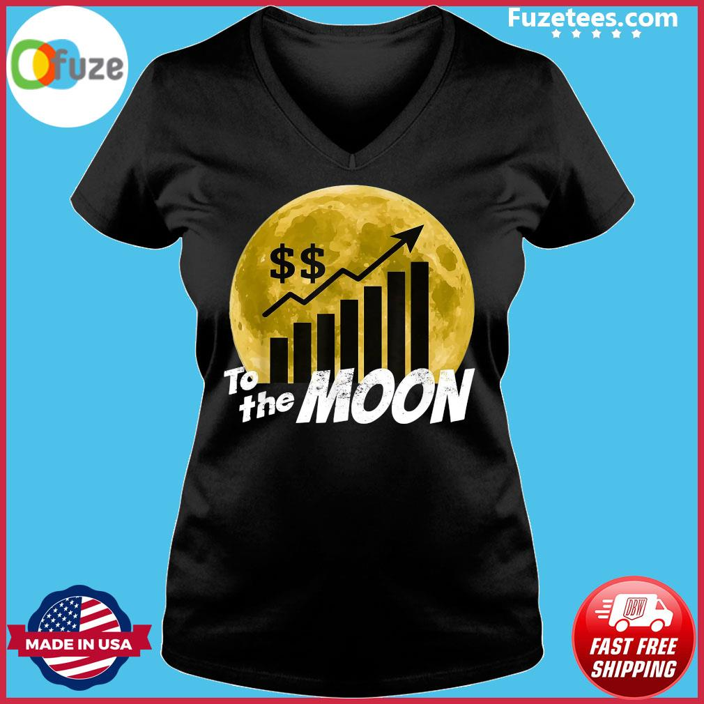 $GME Game To The Moon 2021 Shirt Ladies V-neck