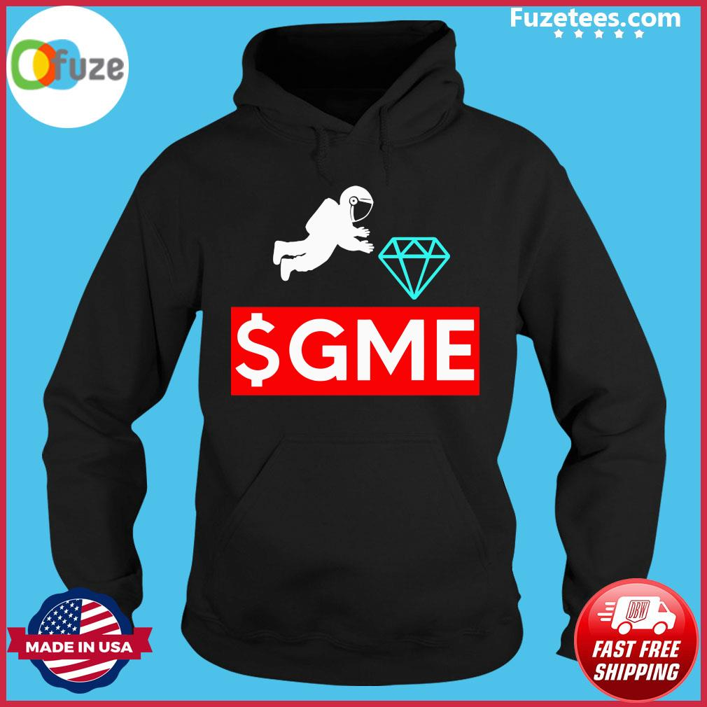 $gme Wallstreetbets Diamond Game To The Moon Shirt Hoodie